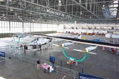 Solar Impulse 2 in hangar